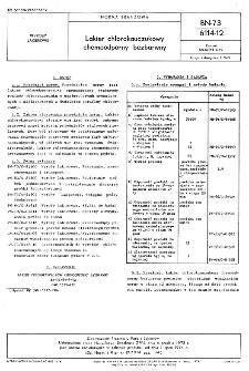 Lakier chlorokauczukowy chemoodporny bezbarwny BN-73/6114-12