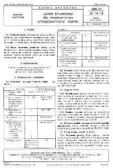 Lakier bitumiczny dla okrętownictwa antygalwaniczny, czarny BN-75/6114-13