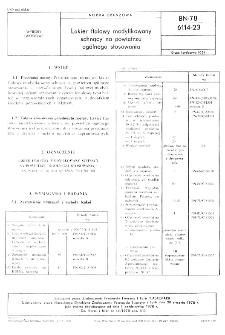 Lakier ftalowy modyfikowany schnący na powietrzu ogólnego stosowania BN-78/6114-23