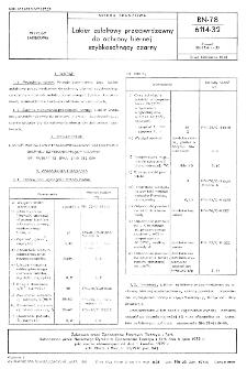 Lakier asfatowy przeciwrdzewny do ochrony biernej szybkoschnący czarny BN-78/6114-32