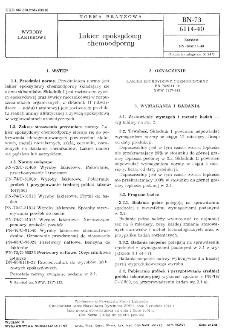 Lakier epoksydowy chemoodporny BN-73/6114-40