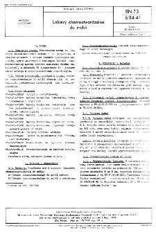 Lakiery chemoutwardzalne do mebli BN-73/6114-41
