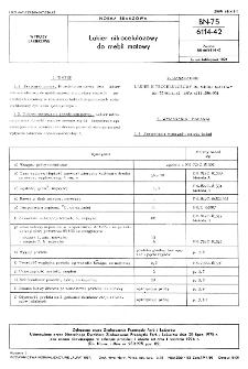 Lakier nitrocelulozowy do mebli matowy BN-75/6114-42