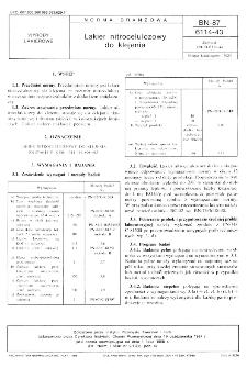 Lakier nitrocelulozowy do klejenia BN-87/6114-43