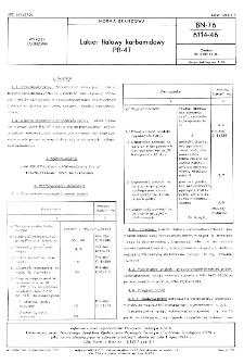 Lakier ftalowy karbamidowy PB-4T BN-76/6114-46