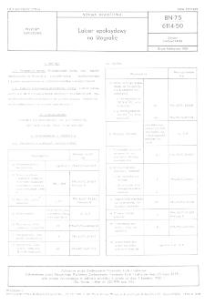 Lakier epoksydowy na litografię BN-75/6114-50