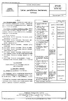 Lakier pentaftalowy bezbarwny lotniczy BN-68/6114-52