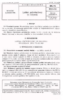 Lakier poliwinylowy do klejenia BN-75/6114-53