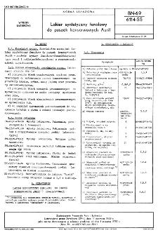 Lakier syntetyczny fenolowy do puszek konserwowych Aurit BN-69/6114-55