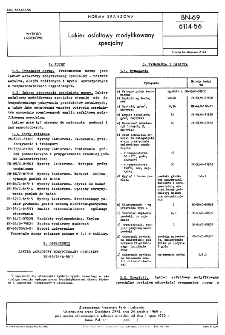 Lakier asfaltowy modyfikowany specjalny BN-69/6114-56