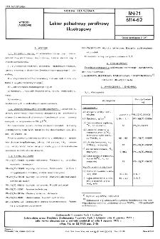 Lakier poliestrowy parafinowy tiksotropowy BN-71/6114-62