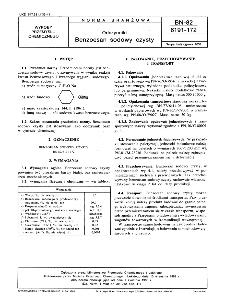 Odczynniki - Benzoesan sodowy czysty BN-82/6191-172