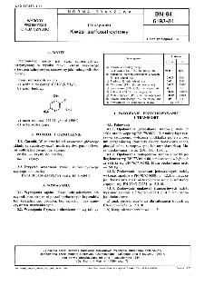 Odczynniki - Kwas sulfosalicylowy BN-84/6193-84