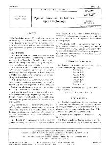 Żywice fenolowe techniczne typu rezolowego BN-77/6311-01