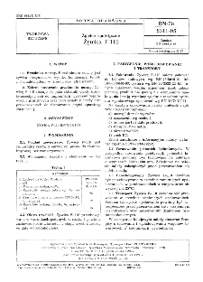 Żywice syntetyczne - Żywica F-110 BN-78/6311-05