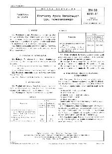 Roztwory żywic fenolowych typu nowolakowego BN-83/6311-11