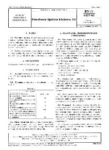 Fenolowa żywica klejowa AG BN-77/6317-02