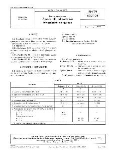 Żywice syntetyczne - Żywice dla odlewnictwa utwardzane na gorąco BN-79/6321-04