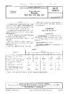Żywice poliestrowe - Polimale 100, 102, 103, 108, 109 BN-78/6331-06