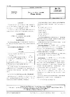 Żywice poliestrowe nasycone - Poles 60/20 BN-79/6335-02