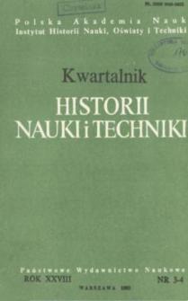 Kwartalnik Historii Nauki i Techniki R. 28 nr 3-4/1983