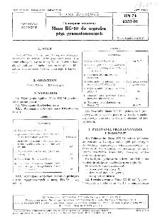 Tworzywa sztuczne - Masa KG-50 do wyrobu płyt gramofonowych BN-74/6352-01
