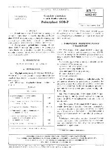 Granulaty obuwnicze z poli (chlorku winylu) - Polwiplast SOB-P BN-77/6352-02