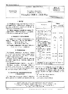 Granulaty obuwnicze z poli (chlorku winylu) - Polwiplast SOB-S i SOB-Wm BN-78/6352-03