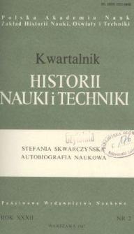 Kwartalnik Historii Nauki i Techniki R. 32 nr 2/1987