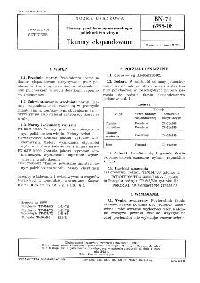 Tkaniny powlekane uplastycznionym polichlorkiem winylu - Tkaniny ekspandowane BN-71/6355-08