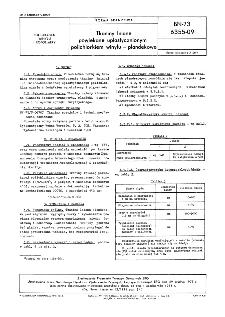 Tkaniny powlekane uplastycznionym polichlorkiem winylu - plandekowe BN-73/6355-09