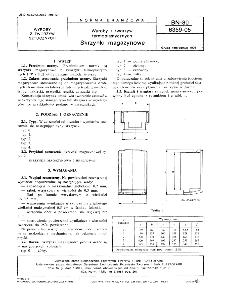 Wyroby z tworzyw sztucznych - Skrzynki magazynowe BN-80/6359-05
