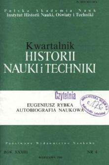 Kwartalnik Historii Nauki i Techniki R. 33 nr 4/1988