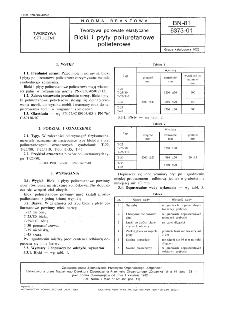 Tworzywa porowate elastyczne - Bloki i płyty poliuretanowe polieterowe BN-81/6373-01