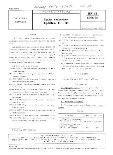 Żywice epoksydowe - Epidian 51 i 53 BN-73/6376-01
