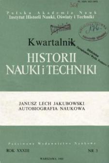 Kwartalnik Historii Nauki i Techniki R. 33 nr 3/1988