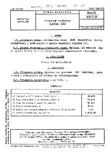 Żywice epoksydowe - Epidian 520 BN-75/6377-01