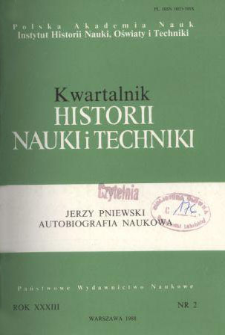 Kwartalnik Historii Nauki i Techniki R. 33 nr 2/1988