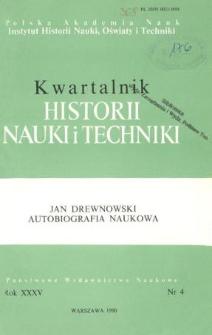 Kwartalnik Historii Nauki i Techniki R. 35 nr 4/1990