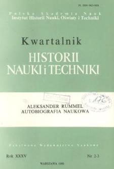 Kwartalnik Historii Nauki i Techniki R. 35 nr 2-3/1990