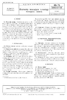 Elementy mocujące rurociągi - Wymagania i badania BN-76/8860-01/00