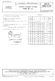 Elementy mocujące rurociągi - Haki do rur BN-76/8860-01/04