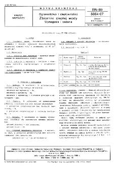 Ogrzewictwo i ciepłownictwo - Zbiorniki ciepłej wody - Wymagania i badania BN-89/8864-07