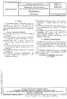 Wymienniki przeciwprądowe dla ciepłej wody gospodarczej typ WCW - Wężownice - Wymagania BN-71/8864-30