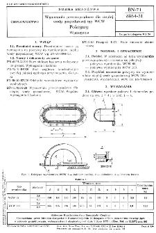Wymienniki przeciwprądowe dla ciepłej wody gospodarczej typ WCW - Pokrywy - Wymagania BN-71/8864-31
