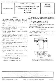 Wymienniki przeciwprądowe dla ciepłej wody gospodarczej typ WCW - Głowice - Wymagania BN-71/8864-32