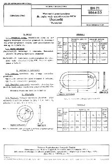 Wymienniki przeciwprądowe dla ciepłej wody gospodarczej typ WCW - Uszczelki - Wymagania BN-71/8864-33