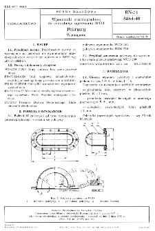 Wymienniki przeciwprądowe do centralnego ogrzewania WCO - Pokrywy - Wymagania BN-71/8864-40