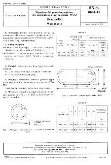 Wymienniki przeciwprądowe do centralnego ogrzewania WCO - Uszczelki - Wymagania BN-71/8864-41