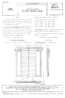 Centralne ogrzewanie - Grzejniki płytowe stalowe BN-77/8864-51